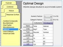 Discrete (Fixed) Numeric Levels in RSM Designs