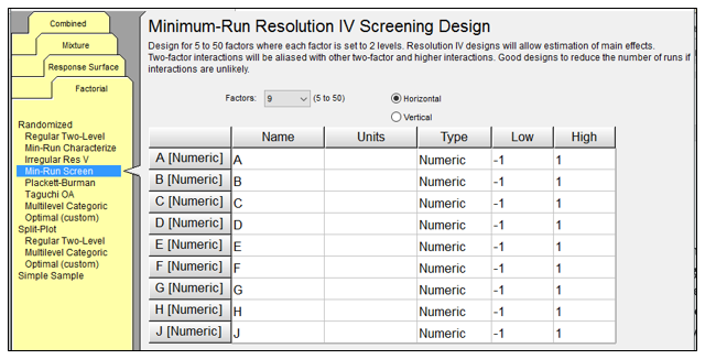 Minimum-Run Resolution IV Screening Designs
